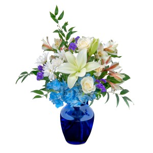 Blue Island Arrangement in Roswell, NM | BARRINGER'S BLOSSOM SHOP