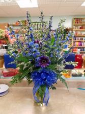 Blue Jean Baby vase