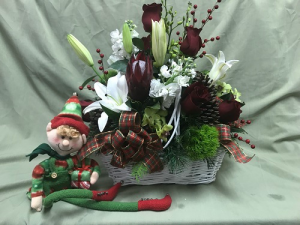 Glorious Holiday Basket  in Cape Coral, FL | SAY IT WITH FLOWERS