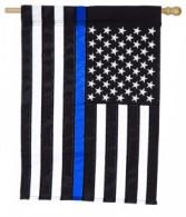 Blue Line Garden Flag