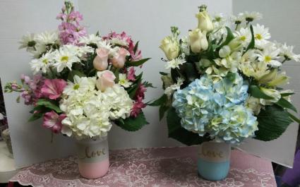 Blue Love Vase Keepsake