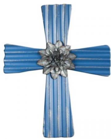 Blue Metal Cross