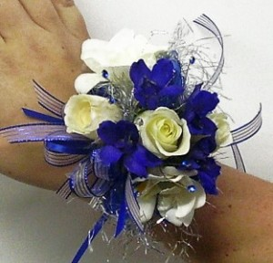 Blue Moon Corsage  in Dover, NH | SWEET MEADOWS FLOWER SHOP