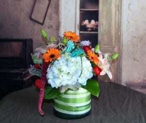 Blue Moon Cylinder  in Stevensville, MT   WildWind Floral Design Studio