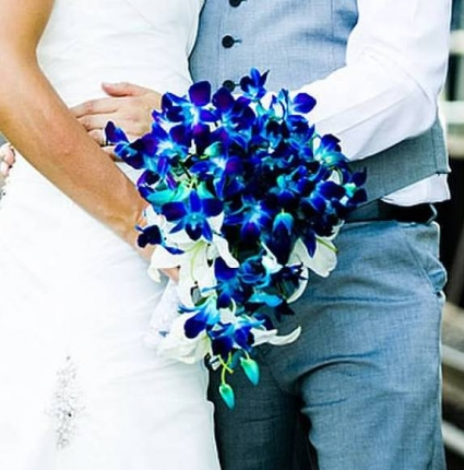 Blue Orchid Bouquet Wedding Bouquet in Abbotsford, BC - BUCKETS ...