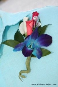 Blue Orchid Boutonnieres