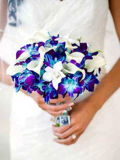 Blue Orchid Bridal Bouquet in Teaneck, NJ - Teaneck Flower Shop ...