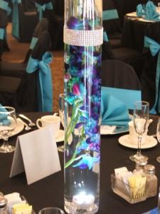 Blue Orchid Centerpiece Wedding Flowers In Herndon Pa Bittersweet