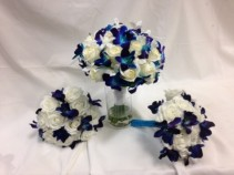 Blue Orchid Wedding Flowers Bridal bouquet