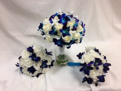 Blue Orchid Wedding Flowers Bridal bouquet in Detroit Lakes, MN ...