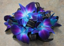 Blue Orchid Wristlet