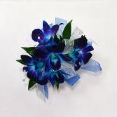 Blue Orchids Corsage