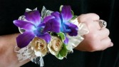 Blue Orchids Prom Corsage