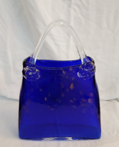 Blue Pocket Book with Champagne Spots Vase