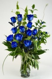 Mysterious Blue Roses Arrangement
