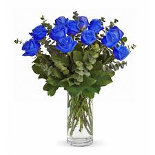 Blue Rose Vase