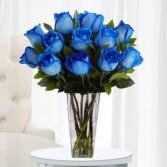 Blue Roses Vased