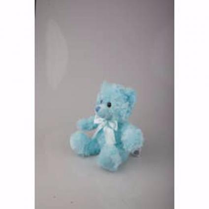 Blue Sitting Bear Plushland