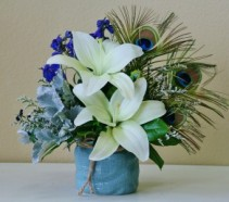 BLUE SKIES Arrangement of Flowers