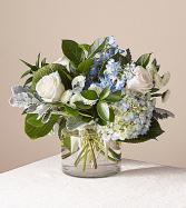 Blue Skies Clear Vase