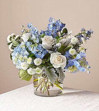 Blue Skies Premium Clear Vase