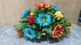 Blue Sunflower Saddle Monument saddle