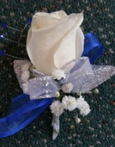 BLUE SUNSET Prom Boutonniere