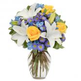 Blue Sunshine Bouquet
