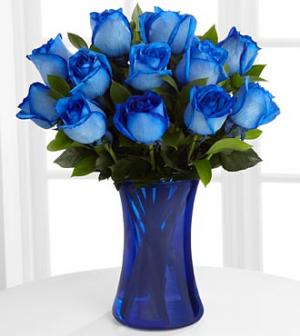 Blue Valentine Specialty Rose vase arrangement in Delta, BC | FLOWERS BEAUTIFUL