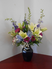 Blue Vase Arrangement