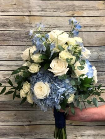 Blue & White Bouquet Wedding Bouquet