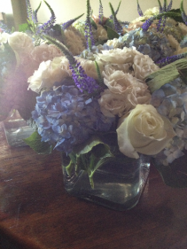 Blue & White Centerpieces Guest Table Arrangements