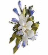 Blue & White Elegance Corsage H2014A