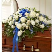 BLUE & WHITE HALF CASKET