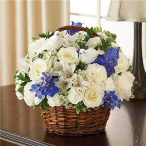 Blue & White Peace, Prayers and Blessings Basket