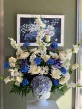 Blue & White Pedestal