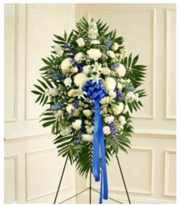 Blue & White Standing Spray