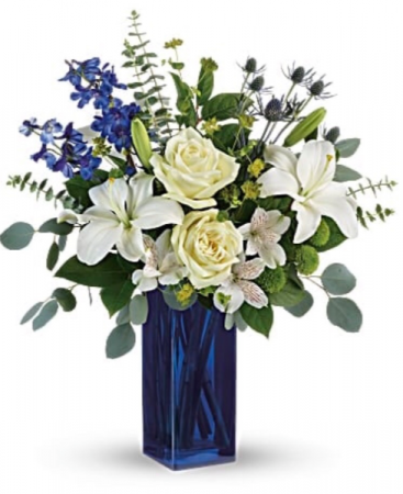 Blue & white vase arrangement  Vase