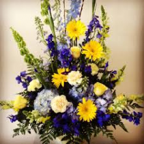 Blue Yellow And White Tribute Basket