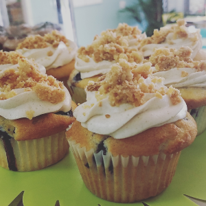 Blueberry Cobbler Cupcakes Sweet Blossoms  in Greensboro, NC | BLOSSOMS & SWEET BLOSSOMS