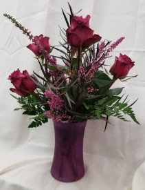 Blueberry Roses 6 Blueberry roses in vase