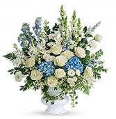Blues and white elegance  Funeral