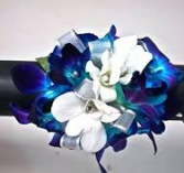 BLUE/WHITE ORCHID 1 CORSAGE/WRIST