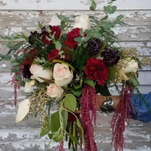 Blush and Burgundy bridal bouquet  Bridal Bouquet  in Caldwell, ID | Bayberries Flowers & Gifts