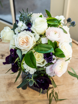 Blush and Plum Bridal Bouquet in Cody, WY | BEARTOOTH FLORAL & GIFTS