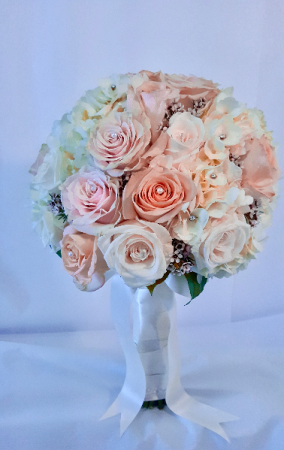 Blush & Bejeweled Bridal Bouquet