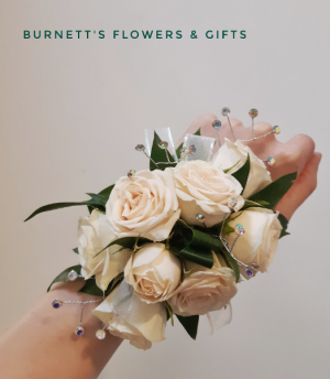 Blush Bling Corsage  in Kelowna, BC | Burnett's Florist