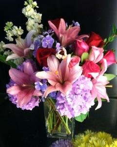 Blush Bouquet Vase in Bethel, CT | BETHEL FLOWER MARKET OF STONY HILL