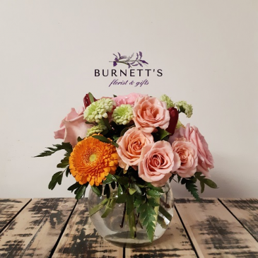 Bubbly Blush Vase Arrangement