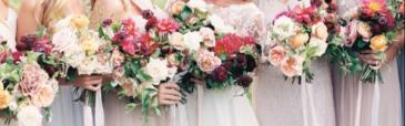 Blush & Burgundy Inspired  Wedding Party